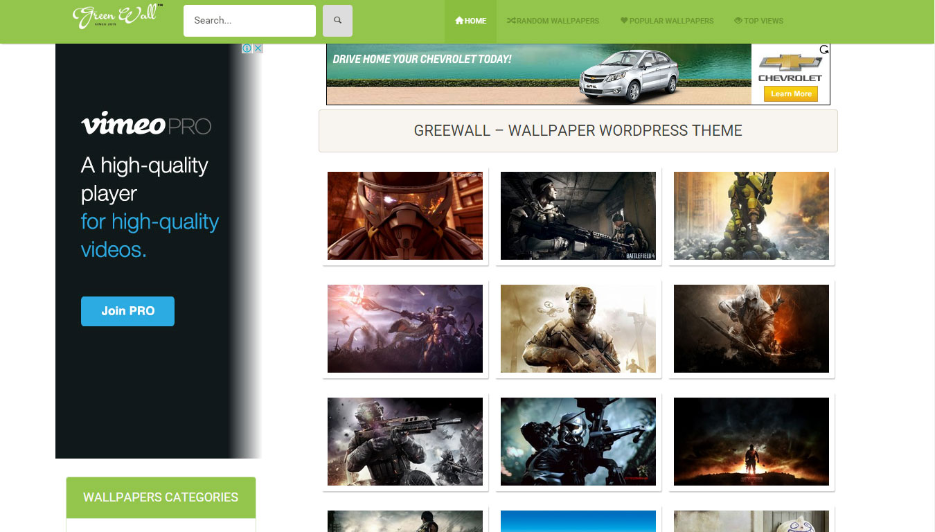 Wallpaper WordPress Themes Free Responsive Wordpress Wallpaper Themes | All Design Creative