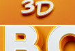 3D Bold Text Effect-Free PSD File