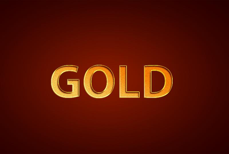 gold text effect tutorials
