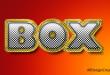 Box Gold Text Effect PSD