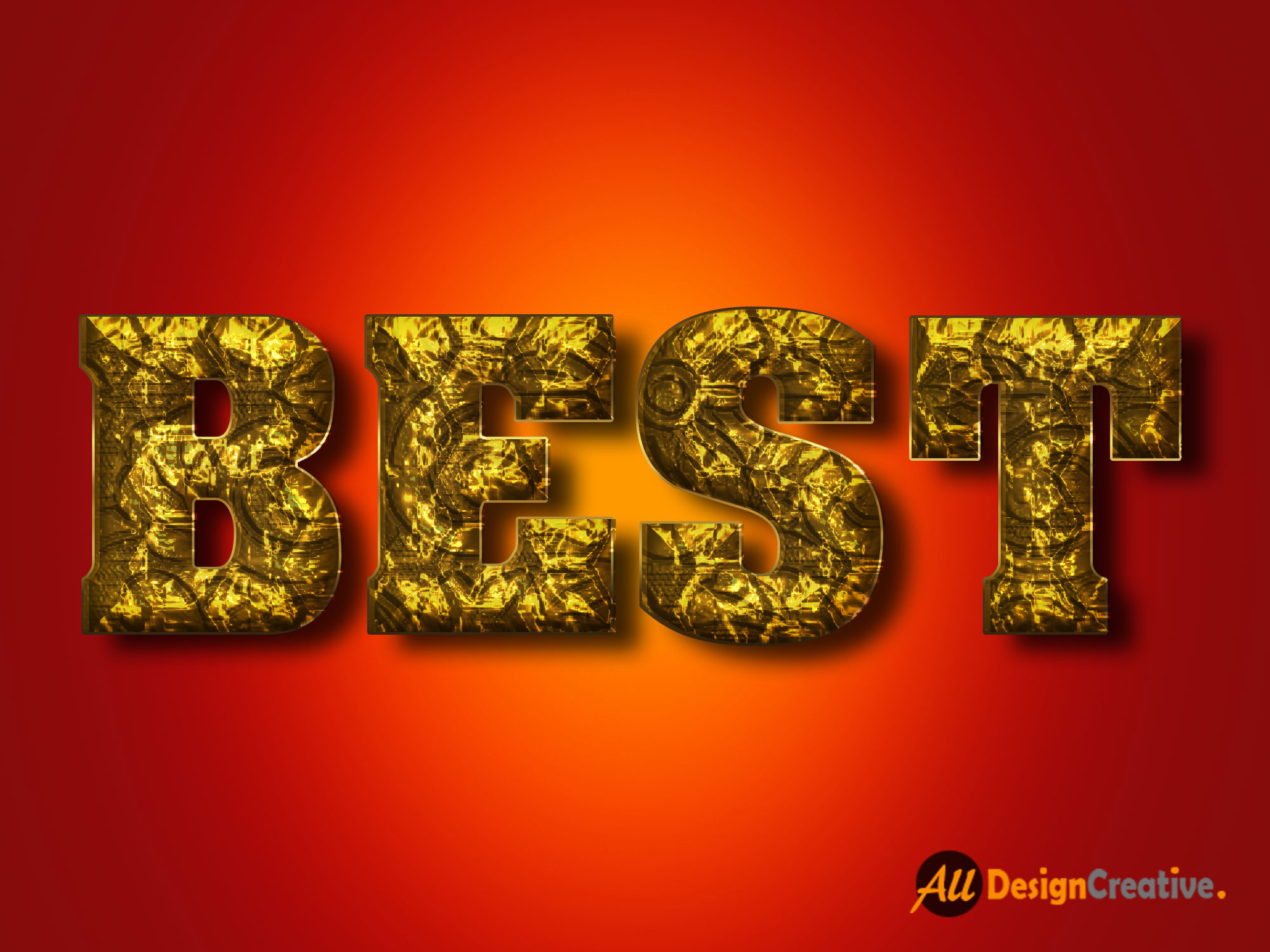 Best Gold Effect PSD