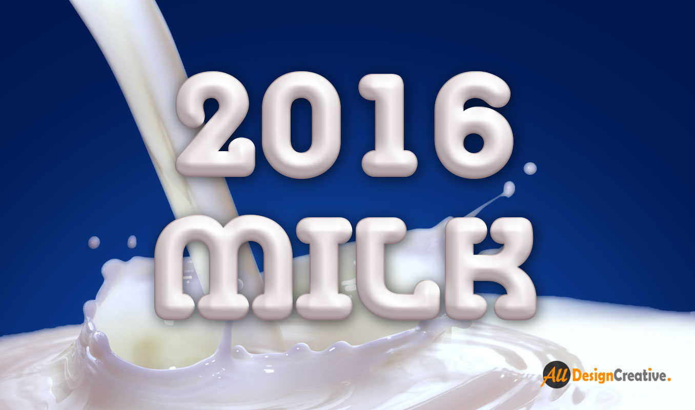 Milk Text Effect PSD