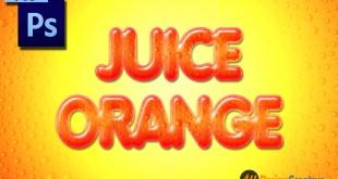 Juice Text Effect Photoshop PSD