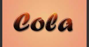 photoshop cola text effects tutorials