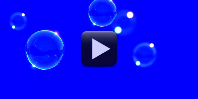 Bubbles Animation Video Background Blue Screen Video All