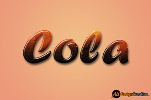 Cola Text Effect Photoshop PSD
