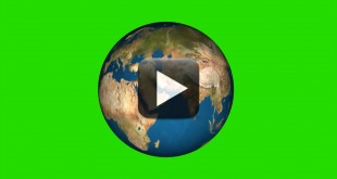 Green Screen Globe Earth Rotation Video Effects