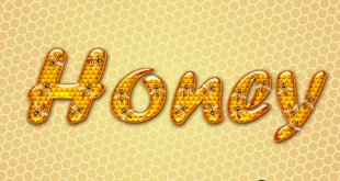 Honey Text Effect Photoshop PSD