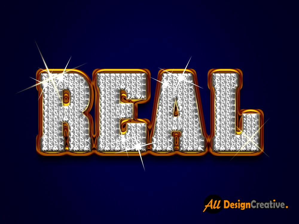 Real Diamond Text PSD