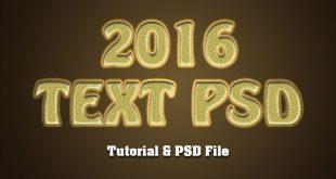 6 Steps-Best Photoshop Text Effect Tutorials