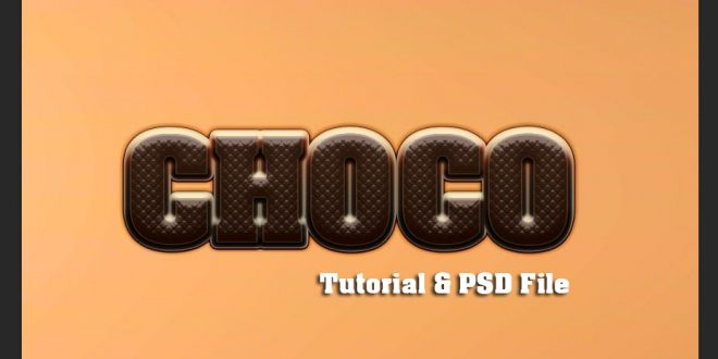 Chocolate Text Tutorial Photoshop