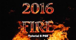 Fire Text Effect Photoshop Tutorial