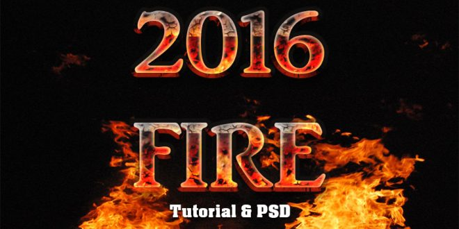 Fire Text Effect Photoshop Tutorial