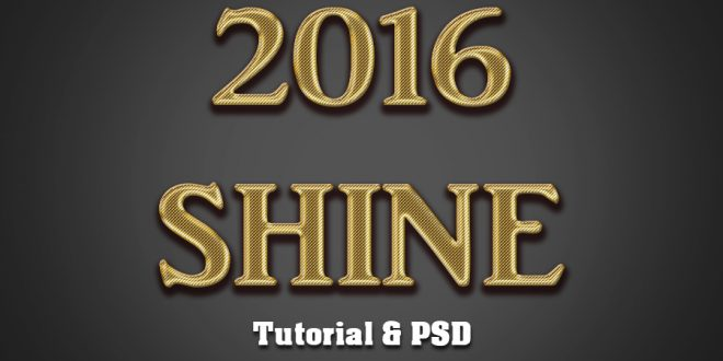 Shiny Gold Text Effect photoshop Tutorial