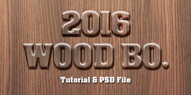 Wood Text Effect Photoshop Tutorial