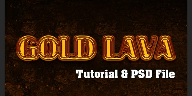 Gold Lava Text Effect Tutorial in Photoshop