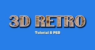 3D Retro Text Effect Photoshop Tutorial