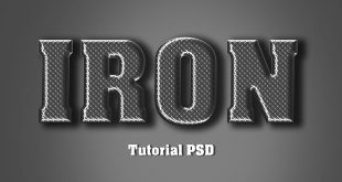 Iron Text Effect Photoshop Tutorial