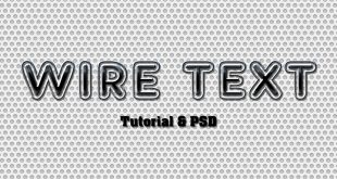 Photoshop Wire Text Effect Tutorial and PSD