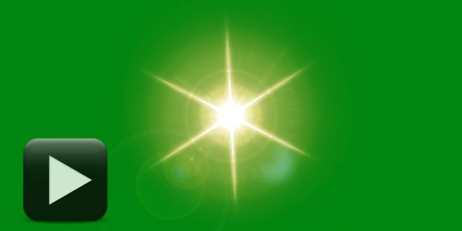 Lens Flare Green Screen Animation