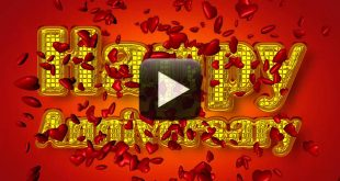 Wedding Anniversary Background Video Greetings