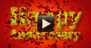 Wedding Anniversary Background Video Greetings