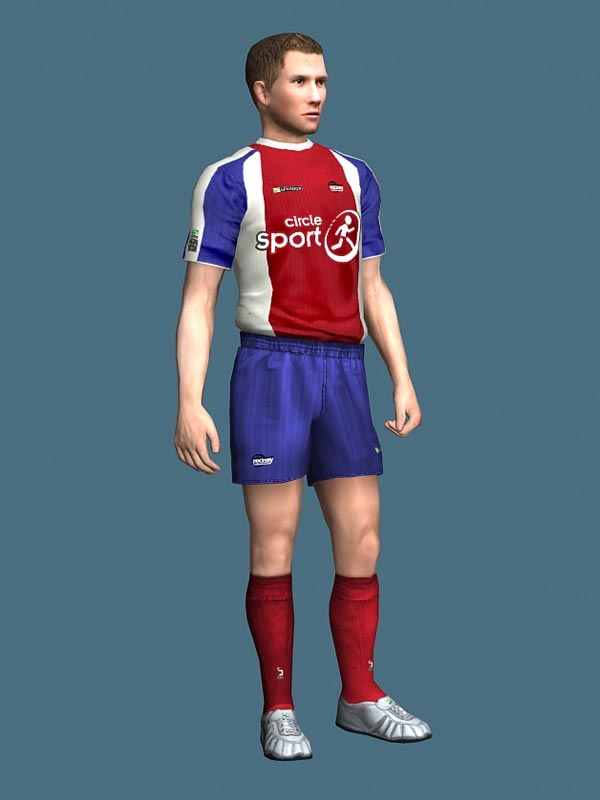 Soccer Player Man Character Rigged 3D Model-Free Download