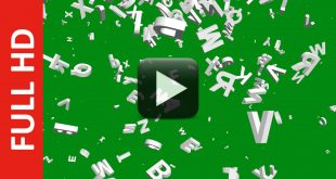 Free Download Letters Falling Green Screen Background Video
