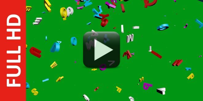 Multicolor Letters Green Screen Free Download