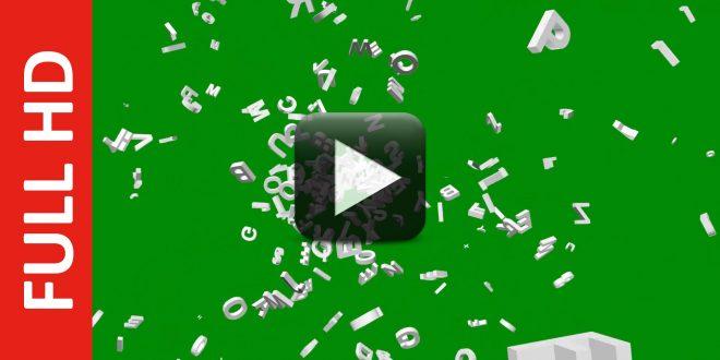 Spreading Alphabet Letters Green Screen Effect