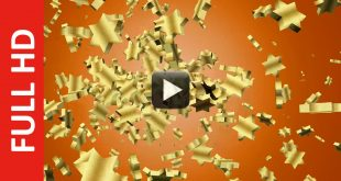 Free Download Golden Stars Animation Motion Video HD