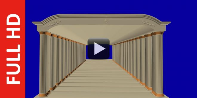 Hall Animated Title Background Blue Screen Effect