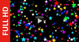 Colorful Star Particle Motion Background Free Video