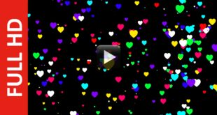 Free HEARTS Animated Black Background