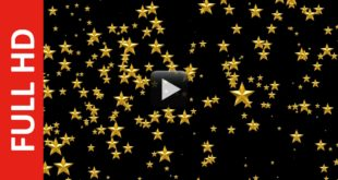 Golden Stars Black Background