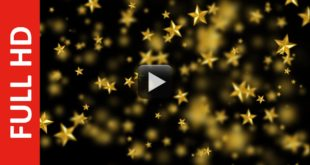 Video Star Blur Effect Animated Background
