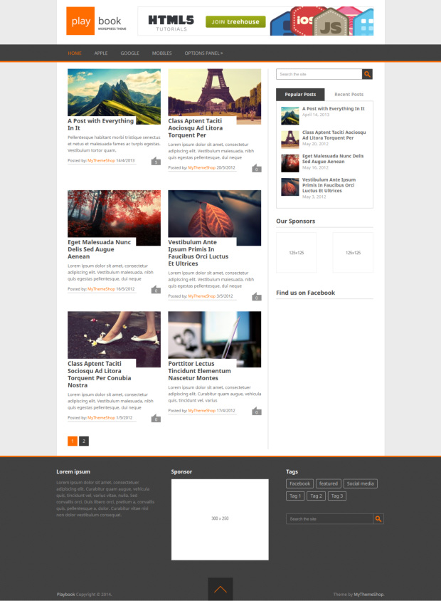 free wordpress responsive theme