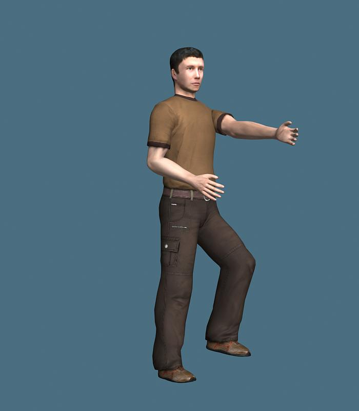 Male rigged character for 3ds Max: