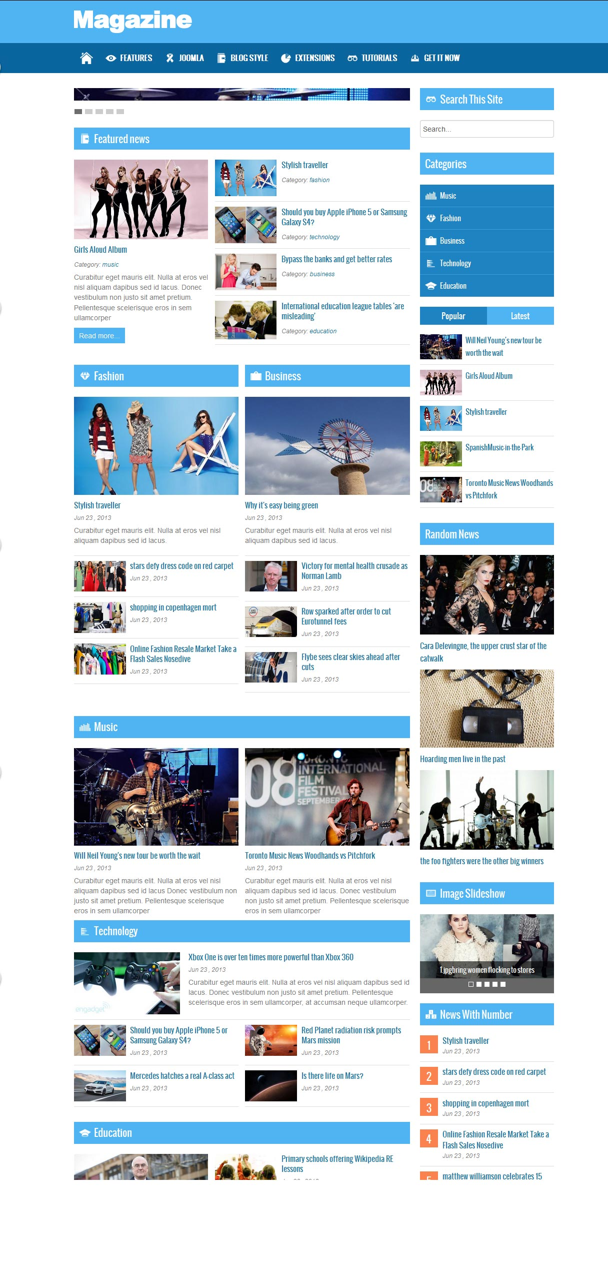 Best Free Joomla Magazine Themes 2015 All Design Creative