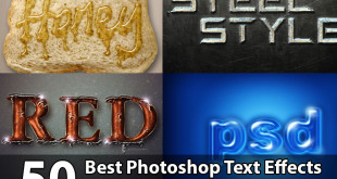 50 Best Photoshop Text Effects Tutorials for Beginners