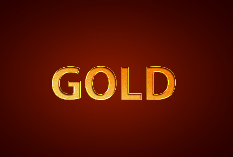 gold text effect tutorials