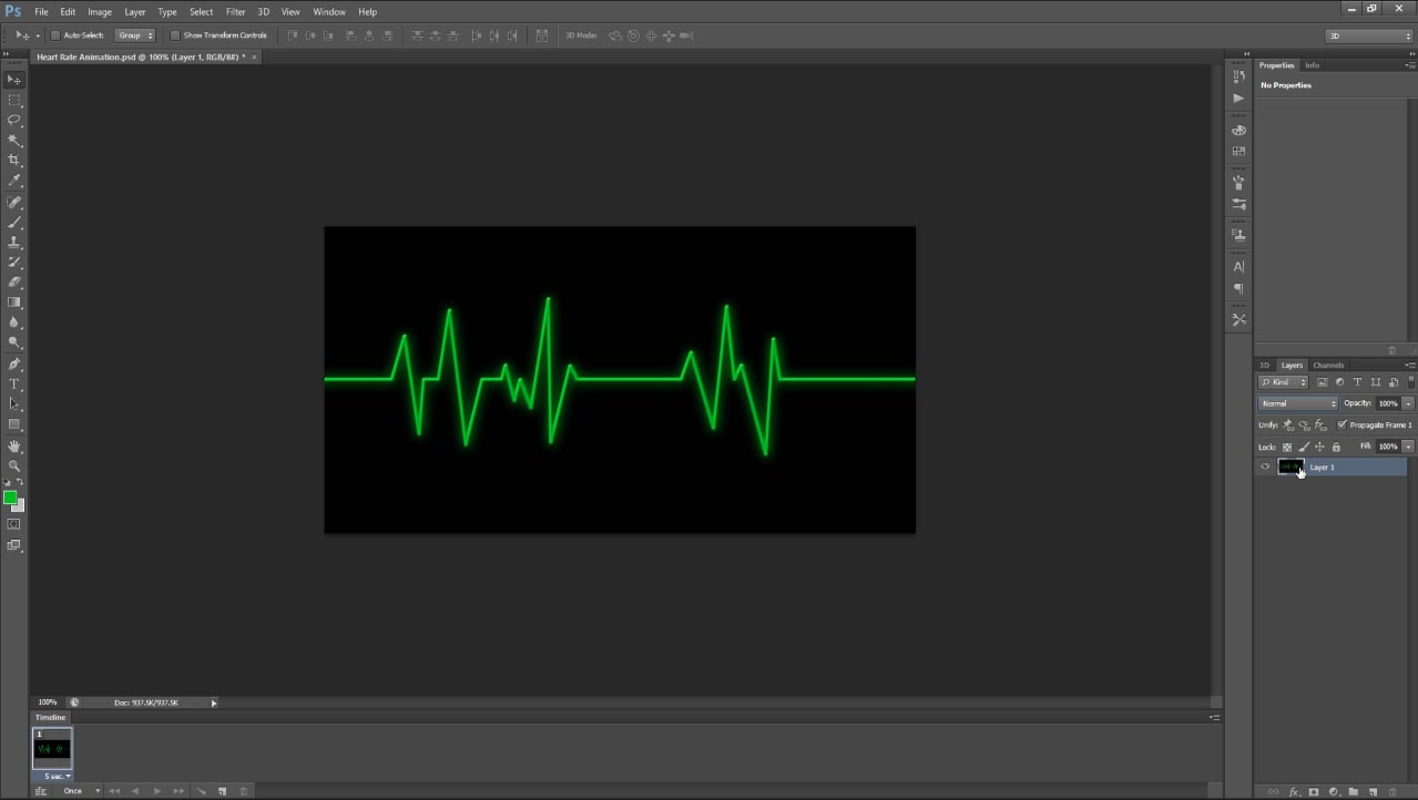 Heartbeat animation tutorial in photoshop cs6 all design creative heart rate 4 baditri Choice Image