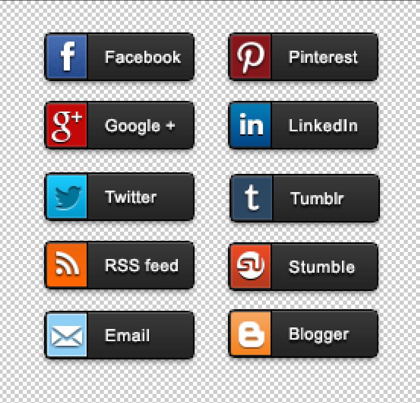 Top 10 social icons