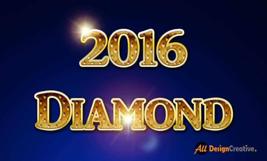 2016 Diamonds Text Effect PSD File