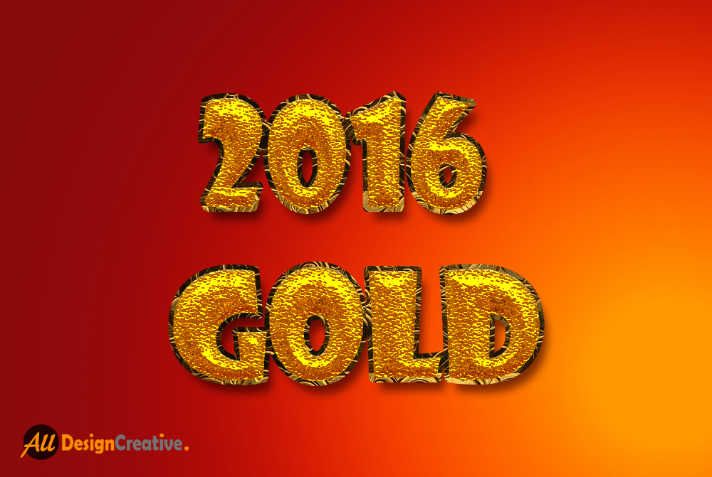 2016 Gold Effect PSD File