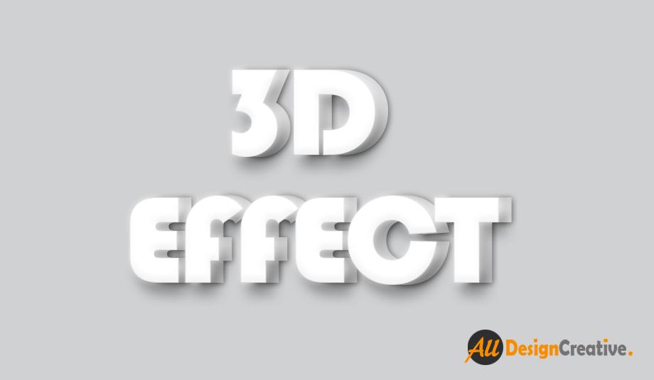 3D Effect Text PSD File