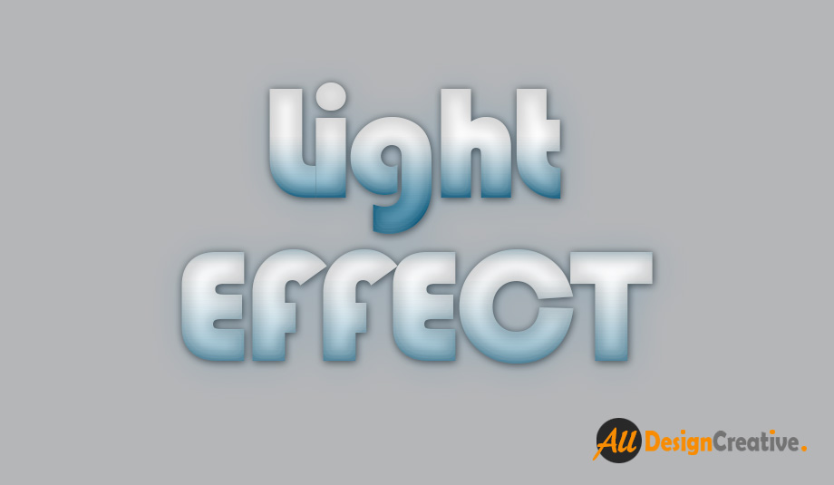 Text Lighting Effect PSD