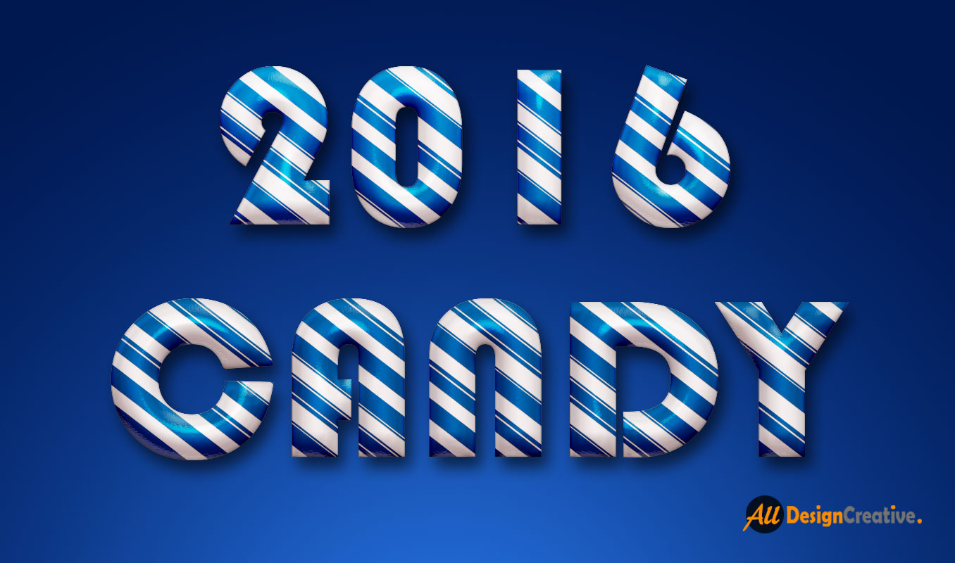 Glossy Candy Text Effect PSD