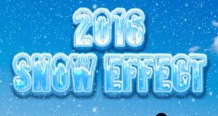 Best Snow Text Effect PSD