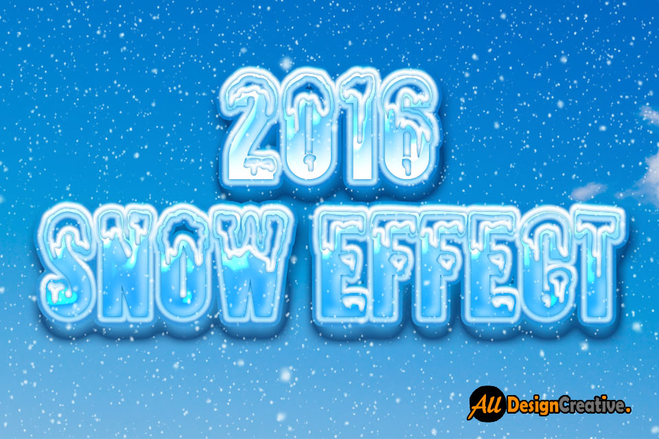 Best Snow Text Effect PSD